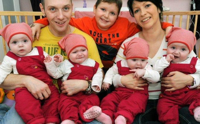 у канадской пары родились четверняшки фото запчасти аксессуары
