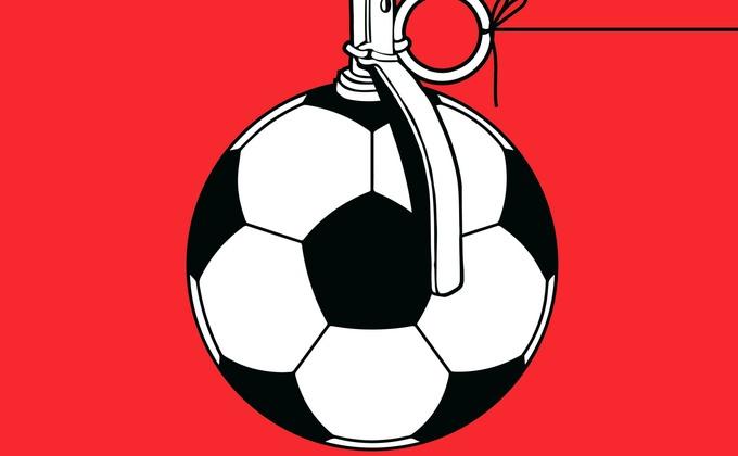 Футбол на крови: серия ярких рисунков перед стартом ЧМ-2018 в РФ
