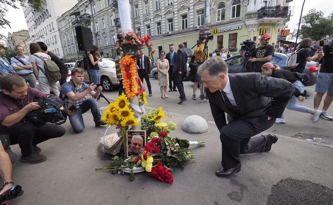 Два года после убийства Шеремета: фоторепортаж акции памяти