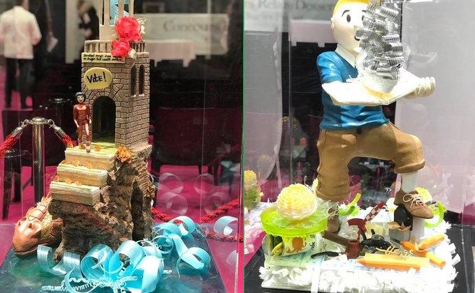 Одежда из шоколада и десерты-шедевры на Salon du Chocolate: фото