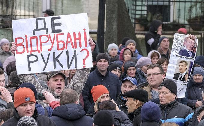 Мешканці кількох сіл перекрили міжнародну трасу у Вінницькій області через небажання приєднуватися до ОТГ - Цензор.НЕТ 9473
