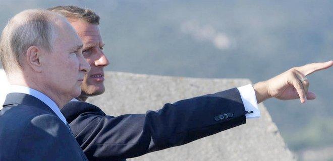 """Макрон уверен, что Путин """"наверняка"""" пойдет на мир для усилий против пандемии"""