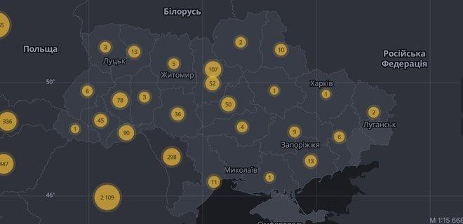 В СНБО создали интерактивную карту по коронавирусу в Украине: есть все данные