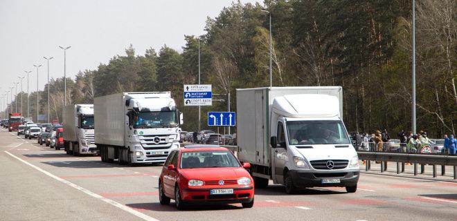 Локдаун. По всему Киеву многокилометровые пробки – карта загруженности  - Фото