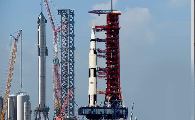 Самая большая ракета в истории. Посмотрите на исполина SpaceX в полной сборке – фото